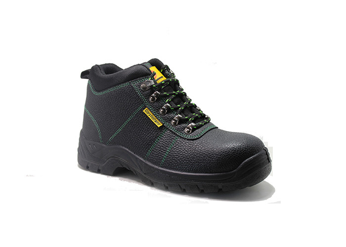 Embossed Action Leather PU Sole Safety Shoes With Steel Toe And Steel Plate