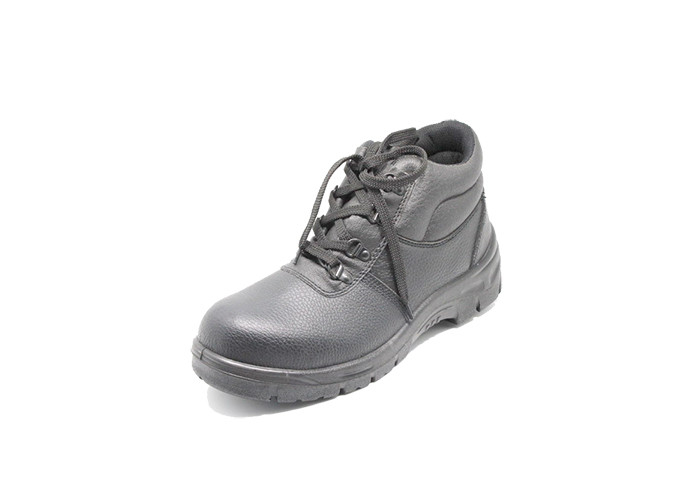 Middle Cut PU Sole Safety Shoes ,  Black Pu Outsole Steel Toe Cap Safety Shoes